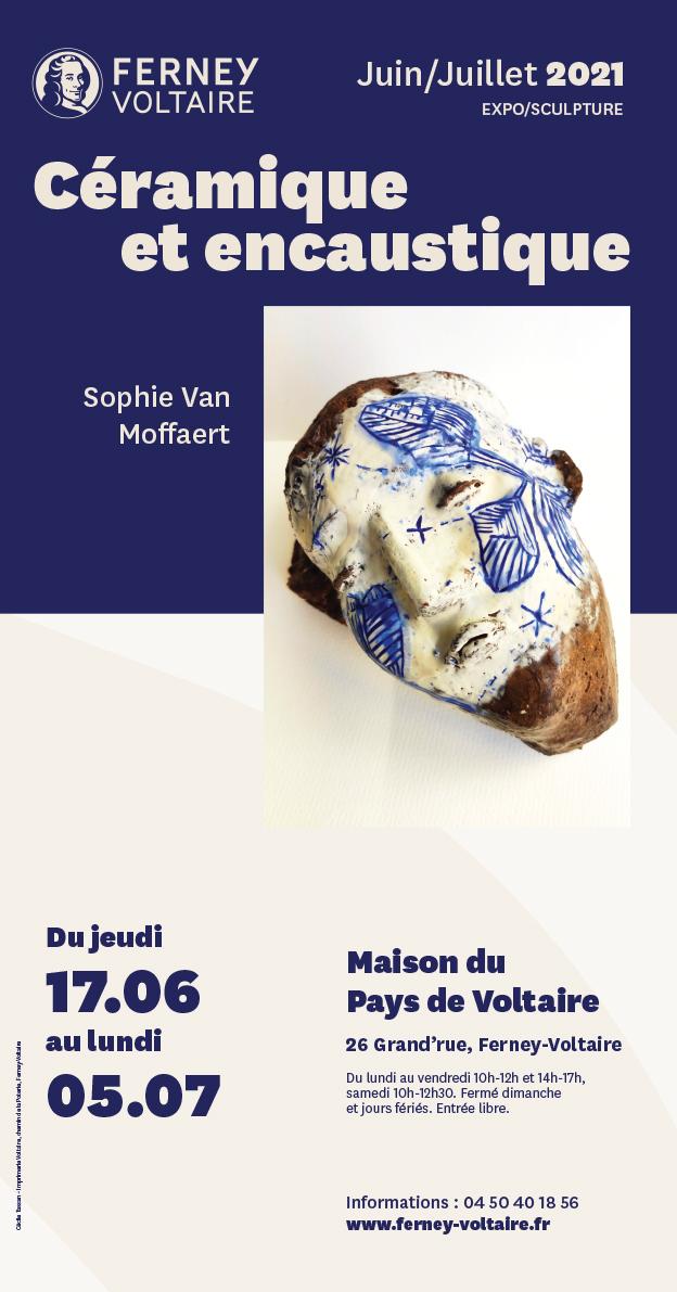 exposition Sophie Van Moffaert céramique et encaustique