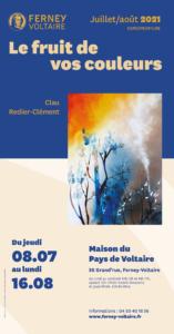 Exposition peinture le fruit de vos couleurs Clau Rédier-Clément