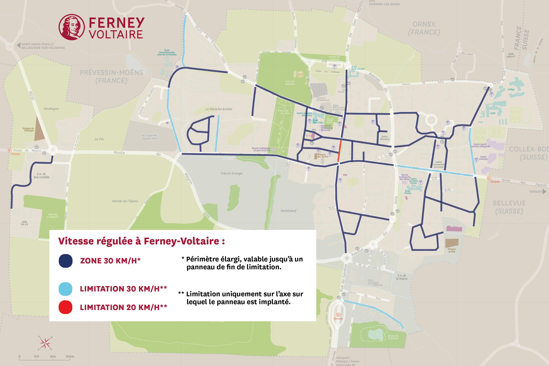 Vitesse régulée à Ferney-Voltaire