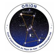 logo Orion astronomie